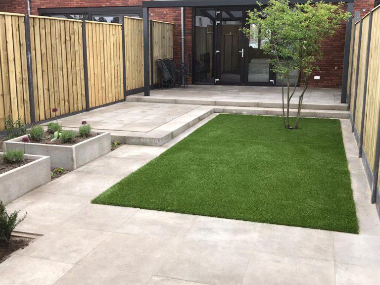 Kunstgras kleine tuin